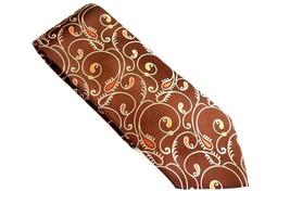 Vintage Van Heusen Men's Brown & Orange Paisley Classic Tie - $9.99