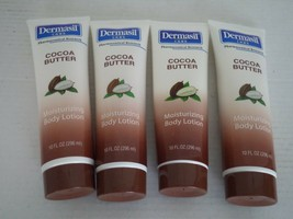 3 Tubes Dermasil Cocoa Butter Moisturizing Body Lotion. 10FL. Extreme Dr... - $15.84