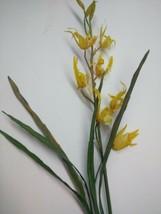 Yellow Spider Orchid Plant. Silk Flower Floral Arrangements - $16.82