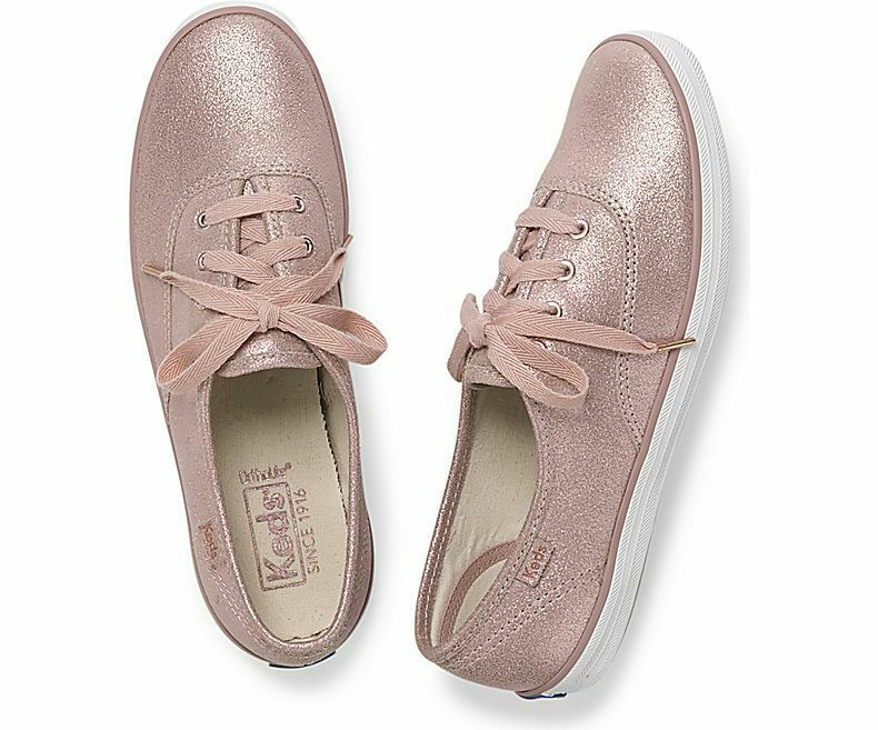 Keds WH58932 Women's Champion Glitter Suede Rose shoe, 7 Med