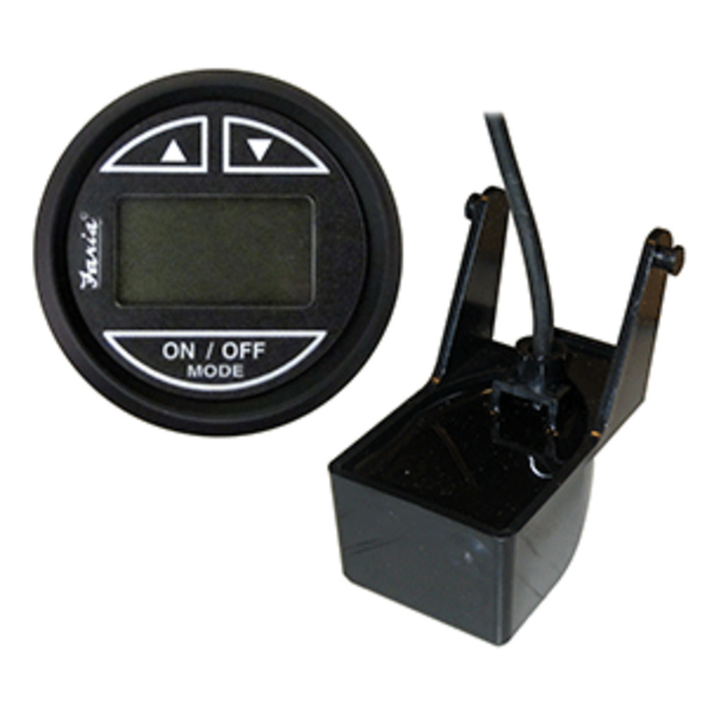 "Primary image for Faria Euro Black 2"" Depth Sounder w/Transom Mount Transducer"