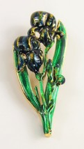 VINTAGE Jewelry MFA MUSEUM FINE ART BOSTON SIGNED ENAMEL IRIS BROOCH - $125.00