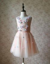 Flower Girl Dress, Sleeveless High Waist Girl Dress Princess Dress - Blush Pink  image 1