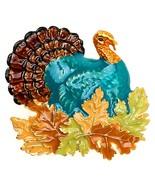 Lova Jewelry Retro Turkey Foliage Thanksgiving Fall Enameled Metal Brooch - $45.09