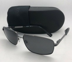New HUGO BOSS Sunglasses 0426/P/S KJ1RA 59-15 Black Frame w/ Grey Polarized Lens