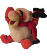 Disney Store RARE 2002 Snowball Tigger Plush Stuffed Christmas Black Hat... - $10.09