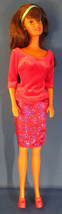 Mattel 1990 Red Hair Barbie Doll in Red Outfit with Red Heels and Red Purse - $9.90
