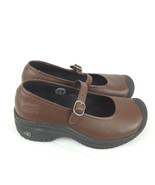 Keen Cush Mary Jane Wedge Shoes brown leather non-slip womens size 5.5 - $28.04