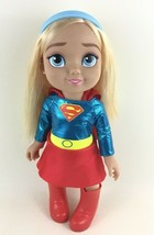 "DC Comics Supergirl Doll Jakks 2017 Super Hero Toddler 14"" Comic Book Fi... - $22.23"