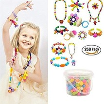 Creative DIY Jewelry Kit for Kids Toddlers Girls Handed Make Necklace Ea... - $20.00