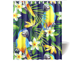 Macaws and tropical flowers shower curtain thumb155 crop