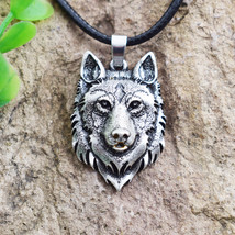 Wolf Head Necklace Pendant Animal Power Norse Viking Amulet Necklaces P... - $22.00