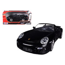 Porsche 911 (997) Turbo Convertible Black 1/18 Diecast Car Model by Moto... - $78.35