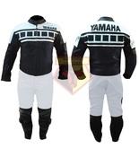 YAMAHA 6728 BLACK\WHITE MOTORBIKE MOTORCYCLE COWHIDE LEATHER ARMOURED 2 ... - $339.99