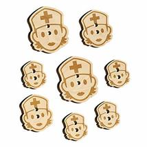 Occupation Medical Nurse Woman Icon Wood Buttons for Sewing Knitting Cro... - $9.99