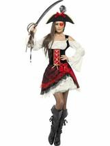 Glamorous Lady Pirate Costume, Pirate Fancy Dress, UK Size 8-10 - $49.36