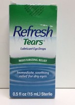 (New) Refresh Tears Lubricant Eye Drops, Moisturizing Relief - 0.5 oz - $8.99