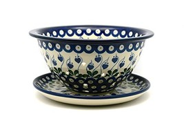 Polish Pottery Berry Bowl with Saucer - Bleeding Heart - €81,90 EUR