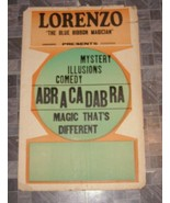Lorenzo The Blue Ribbon Magician Show Poster Abracadabra Magic Show - $64.99