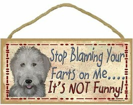 """Stop Blaming Your Farts on Me Labradoodle Sign Plaque Dog 10""""x5"""" gift pet - $10.95"""