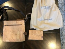 ARTELUSA CORK 2 Tone Purse with Corkor wallet image 2