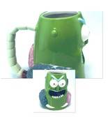 Rick And Morty Pickle Rick 3D Green Mug Funny Adult Coffee Cup - $12.86