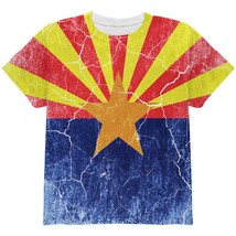 Arizona Vintage Distressed State Flag All Over Youth T Shirt - $24.95