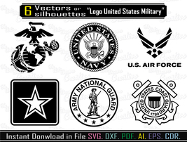 Logo Air Force Svg, Vector for cameo or CNC and 10 similar items