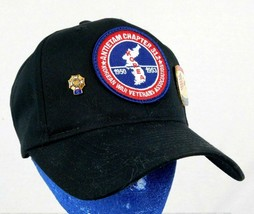 Korean War Veteran Association Baaseball Cap Hat- Pin - VFW 5 Year Pin A... - $44.99