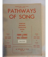 Pathways of Song for Piano & Low Voice LaForge & Earhart 1934 Sheet Music - $14.85