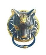 Door knocker Brass Doorbell Door Handle Knob Door Pulls Bronze Sculpture... - £59.67 GBP