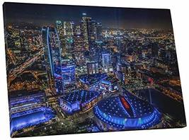 "Pingo World 0705QTYIC0Y ""Los Angeles Downtown at Night Skyline"" Gallery Wrapped  - $57.37"