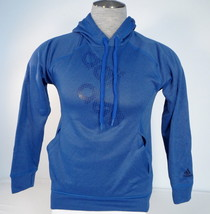 Adidas Ultimate Signature ClimaWarm Blue Hooded Sweatshirt Hoodie Mens NWT - $52.49