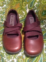 SKECHERS USA SN46169 WOMEN'S TOFFEE LEATHER MARY JANES SHOES SIZE 7M  image 2