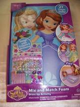 "Disney Sofia the First Amber Mix and Match 21"" Foam Dolls Dress up Activ... - $12.32"
