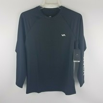 RVCA Men VA Sport Compression Black Long Sleeve Shirt VL904CPL Size S MS... - $35.96