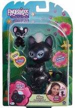 WowWee Rare Fingerlings Allec The Panther W/ Bonus Cub! Light Up Fur 35+ Sounds - $19.00