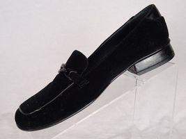 York New Velvet Shoes Womens Ornament Loafer Metal Size 8 Black Jasmine d5Yxqd