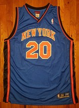 Authentic 2003 Reebok New York Knicks NYK Allan Houston Road Blue Jersey 56 - $309.99