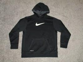 Nike Therma Fit Hoodie Sweatshirt, Youth XL, Black - $14.01