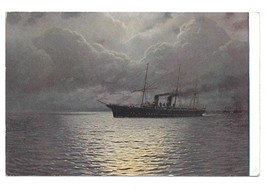 Ship on Still Water Stille Fahrt Russian Painter Kalmikow Nautical Art P... - $4.99