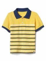 New Gap Kids Boy Cotton Striped Yellow White Navy Blue Short Sleeve Polo Shirt 5 - $16.78