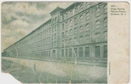 Singer Sewing Machine Factory Elizabeth New Jersey NJ Postcard UDB - $6.99