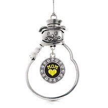Inspired Silver Softball Mom Circle Snowman Holiday Christmas Tree Ornam... - $14.69