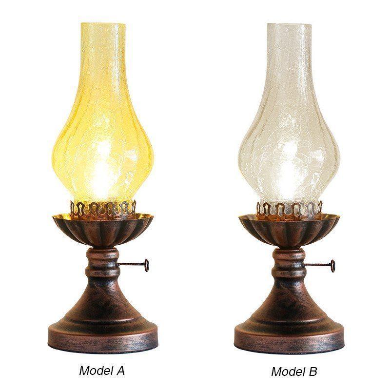 Retro Desk Lamp Kerosene Vintage Industrial Bedside Living Room Night Light