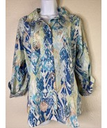 Chico's Womens Size 2 Button Up Shirt Roll Tab Sleeve Non-Iron - $19.80