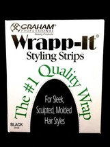 GRAHAM WRAPP IT STYLING STRIPS #1 QUALITY WRAP FOR SLEEK SCULPTED STYLES BLACK