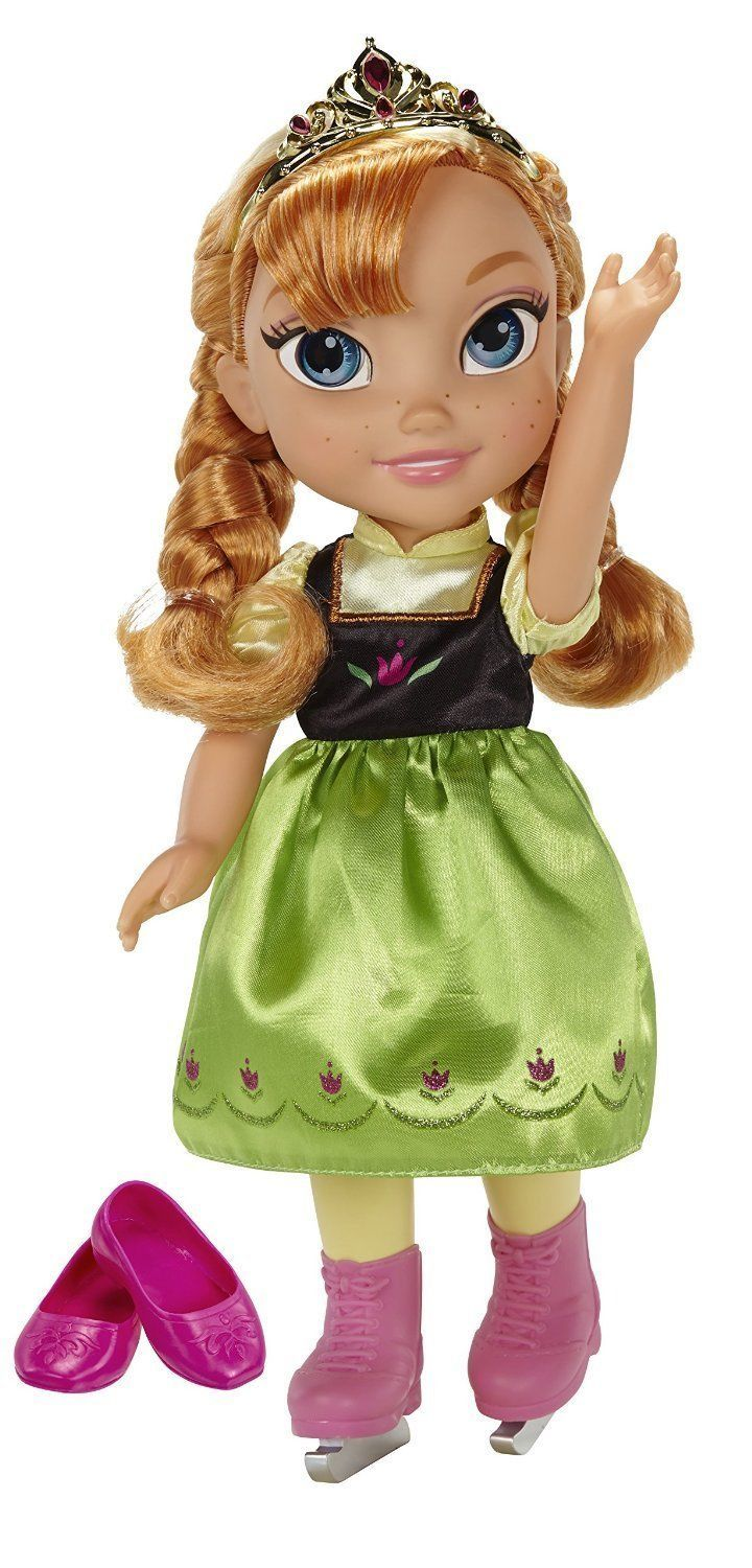 Ice Skating Princess Anna Frozen Toddler Doll Disney, 3+ Years