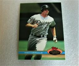 Topps 1991 Stadium Club #382 Matt Merullo Chicago White Sox Card! NM - $1.49