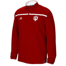 """NWT New Indiana Hoosiers """"IU"""" adidas Red Quarter Zip Sideline Small L/S Jacket - $59.35"""
